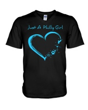 JUST A PHILLY GIRL V-Neck T-Shirt thumbnail