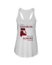 MARYLAND GIRL LIVING IN ALABAMA WORLD Ladies Flowy Tank thumbnail