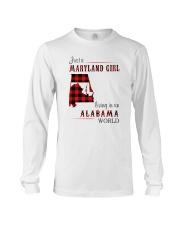 MARYLAND GIRL LIVING IN ALABAMA WORLD Long Sleeve Tee thumbnail