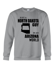 JUST A NORTH DAKOTA GUY IN AN ARIZONA WORLD  Crewneck Sweatshirt thumbnail