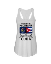 LIVE IN MICHIGAN BEGAN IN CUBA Ladies Flowy Tank thumbnail