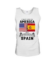 LIVE IN AMERICA BEGAN IN SPAIN ROOT  Unisex Tank thumbnail