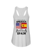 LIVE IN AMERICA BEGAN IN SPAIN ROOT  Ladies Flowy Tank thumbnail