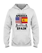 LIVE IN AMERICA BEGAN IN SPAIN ROOT  Hooded Sweatshirt thumbnail