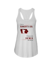 MINNESOTA GIRL LIVING IN IOWA WORLD Ladies Flowy Tank thumbnail