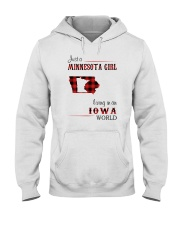 MINNESOTA GIRL LIVING IN IOWA WORLD Hooded Sweatshirt thumbnail