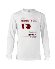 MINNESOTA GIRL LIVING IN IOWA WORLD Long Sleeve Tee thumbnail