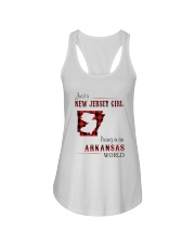 JERSEY GIRL LIVING IN ARKANSAS WORLD Ladies Flowy Tank thumbnail