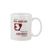 JERSEY GIRL LIVING IN ARKANSAS WORLD Mug thumbnail
