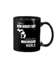 JUST A JERSEY GUY LIVING IN MICHIGAN WORLD Mug thumbnail