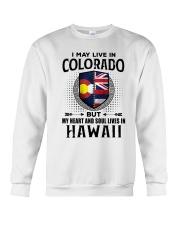 LIVE IN COLORADO MY HEART IN HAWAII MEN Crewneck Sweatshirt thumbnail