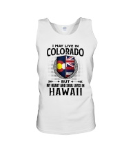 LIVE IN COLORADO MY HEART IN HAWAII MEN Unisex Tank thumbnail