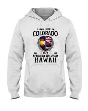 LIVE IN COLORADO MY HEART IN HAWAII MEN Hooded Sweatshirt thumbnail