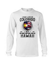 LIVE IN COLORADO MY HEART IN HAWAII MEN Long Sleeve Tee thumbnail