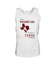 WYOMING GIRL LIVING IN TEXAS WORLD Unisex Tank thumbnail
