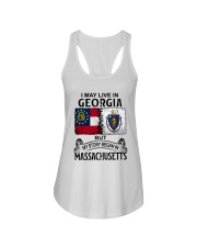 LIVE IN GEORGIA BEGAN IN MASSACHUSETTS Ladies Flowy Tank thumbnail