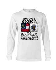 LIVE IN GEORGIA BEGAN IN MASSACHUSETTS Long Sleeve Tee thumbnail