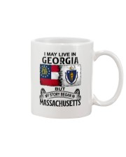 LIVE IN GEORGIA BEGAN IN MASSACHUSETTS Mug thumbnail