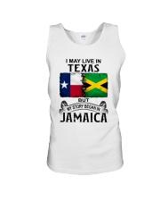 LIVE IN TEXAS BEGAN IN JAMAICA Unisex Tank thumbnail