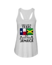 LIVE IN TEXAS BEGAN IN JAMAICA Ladies Flowy Tank thumbnail