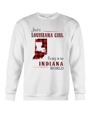 LOUISIANA GIRL LIVING IN INDIANA WORLD Crewneck Sweatshirt thumbnail