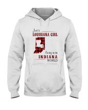 LOUISIANA GIRL LIVING IN INDIANA WORLD Hooded Sweatshirt thumbnail