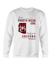 PUERTO RICAN GIRL LIVING IN ARIZONA WORLD Crewneck Sweatshirt thumbnail