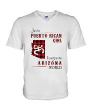 PUERTO RICAN GIRL LIVING IN ARIZONA WORLD V-Neck T-Shirt thumbnail