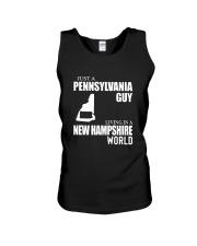 JUST A PENNSYLVANIA GUY LIVING IN NH WORLD Unisex Tank thumbnail