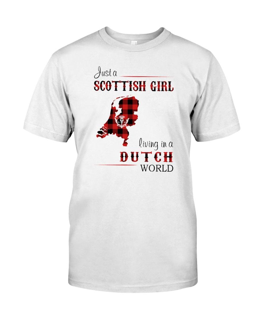 SCOTTISH GIRL LIVING IN DUTCH WORLD Classic T-Shirt