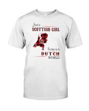 SCOTTISH GIRL LIVING IN DUTCH WORLD Classic T-Shirt front