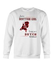 SCOTTISH GIRL LIVING IN DUTCH WORLD Crewneck Sweatshirt thumbnail