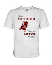 SCOTTISH GIRL LIVING IN DUTCH WORLD V-Neck T-Shirt thumbnail
