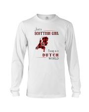 SCOTTISH GIRL LIVING IN DUTCH WORLD Long Sleeve Tee thumbnail
