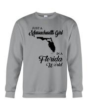 JUST A MASSACHUSETTS GIRL IN A FLORIDA WORLD Crewneck Sweatshirt thumbnail
