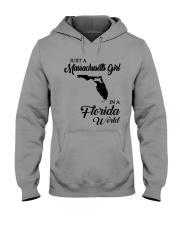 JUST A MASSACHUSETTS GIRL IN A FLORIDA WORLD Hooded Sweatshirt thumbnail