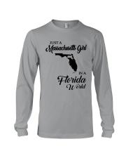 JUST A MASSACHUSETTS GIRL IN A FLORIDA WORLD Long Sleeve Tee thumbnail