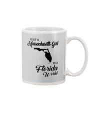 JUST A MASSACHUSETTS GIRL IN A FLORIDA WORLD Mug thumbnail