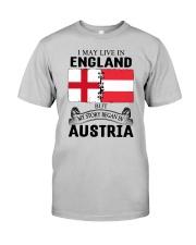 LIVE IN ENGLAND BEGAN IN AUSTRIA ROOT WOMEN Classic T-Shirt front