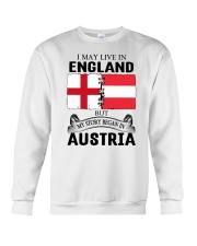 LIVE IN ENGLAND BEGAN IN AUSTRIA ROOT WOMEN Crewneck Sweatshirt thumbnail