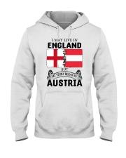LIVE IN ENGLAND BEGAN IN AUSTRIA ROOT WOMEN Hooded Sweatshirt thumbnail
