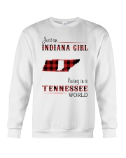 INDIANA GIRL LIVING IN TENNESSEE WORLD Crewneck Sweatshirt thumbnail