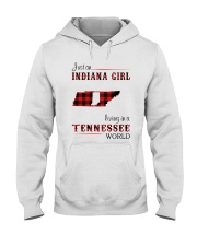 INDIANA GIRL LIVING IN TENNESSEE WORLD Hooded Sweatshirt thumbnail