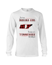 INDIANA GIRL LIVING IN TENNESSEE WORLD Long Sleeve Tee thumbnail