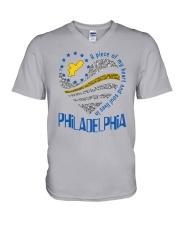 MY HEART AND SOUL LIVES IN PHILADELPHIA V-Neck T-Shirt thumbnail