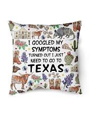 TEXAS I GOOGLED MY SYMPTOMS Indoor Pillow tile