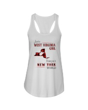 WEST VIRGINIA GIRL LIVING IN NEW YORK WORLD Ladies Flowy Tank thumbnail