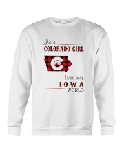 COLORADO GIRL LIVING IN IOWA WORLD Crewneck Sweatshirt thumbnail