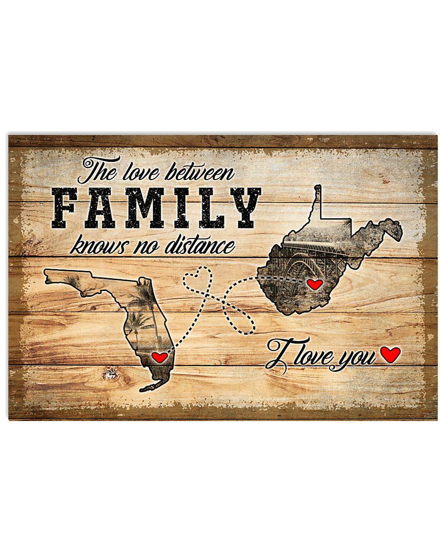 WEST VIRGINIA FLORIDA LOVE BETWEEN FAMILY 24x16 Poster