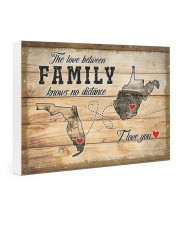 WEST VIRGINIA FLORIDA LOVE BETWEEN FAMILY 24x16 Gallery Wrapped Canvas Prints thumbnail